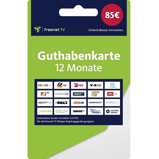 12 Monate freenet TV Guthabenkarte (Versand mit Paketdienst) - Bild 1