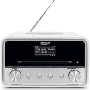 0001/3950 TechniSat DIGITRADIO 585 Hybridradio (DAB+, UKW, Internetradio, OLED-Display, CD-Player, MP3-Funktion, Sprachsteuerung, Wireless-Charging-Funktion) weiß - Bild 1