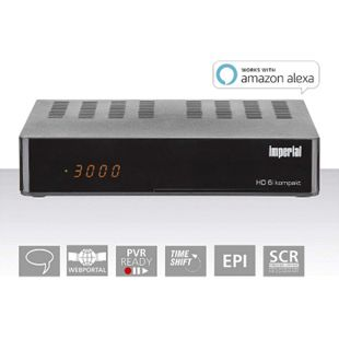 IMPERIAL HD6i kompakt HD Sat Receiver - Smart (DVB-S2, Alexa Voice, Sat to IP, Web-Portal, PVR Ready)... schwarz - Bild 1