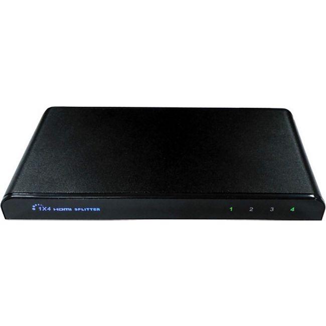 Fte maximal HS 4 - HDMI-Signalverteiler (1x Eingang, 4x Ausgänge, HDCP Unterstützung, Aluminium Gehäuse, Kompatibel mit HDCP) - Bild 1