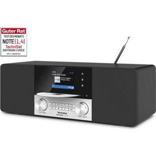 """TechniSat DIGITRADIO 3 VOICE DAB+ (UKW-Radio, CD-Player mit MP3-Wiedergabe,  2,8"""" TFT-Display, USB-Schnittstelle mit Ladefunktion,  Internetunabhängige Sprachsteuerung) - Bild 1"""