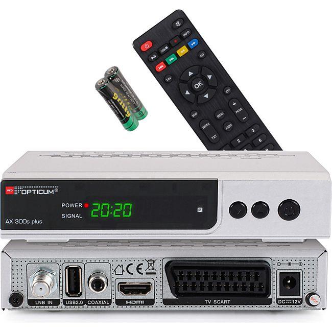 Opticum RED HD AX300s Plus HDTV-Satellitenreceiver Full HD 1080p,HDMI,USB, S/PDIF,Scart - Bild 1