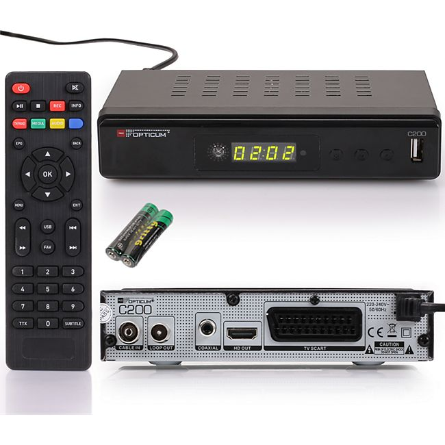 Opticum RED HD AX C200 PVR HD Kabelreceiver PVR Ready, HDMI, Full HD,USB, EPG, SCART - Bild 1
