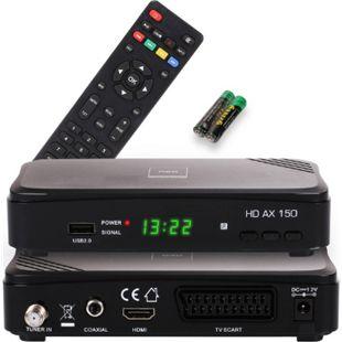 Opticum RED HD AX 150  Full HD Receiver 1080p,HDMI,USB,Scart, 12 Volt für Camping - Bild 1