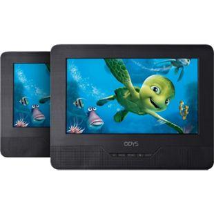 ODYS SEAL 7 Portabler TWIN DVD Player mit 2. Monitor (480 x 234 Pixel, DVD Funktionen, eingebaute Stereolautsprecher) - Bild 1
