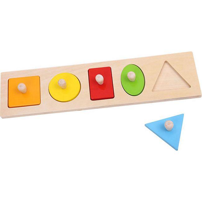 Tooky Toy Geometrie-Puzzle zum Lernen und zur Motorikschulung - Bild 1