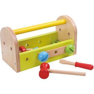 Tooky Toy Kleine Holz-Werkzeugkiste für Kinder ab 3 Jahren - Bild 1