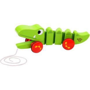 Holz-Spielzeug, niedliches Krokodil zum Hinterherziehen - Bild 1