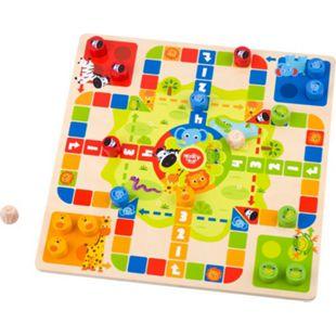 Tooky Toy 2-In-1 Spielbrett für Kinder - Würfel/Schlangen und Leitern-Spiel Holz - Bild 1