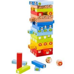 Tooky Toy Spielzeugturm - Holz-Spielzeug Farben-Spiel Motorik Kinder-Spielzeug - Bild 1