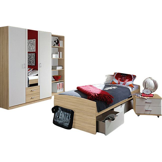 Kinderzimmer Acun 4-teilig Weiß - Grau - Bild 1
