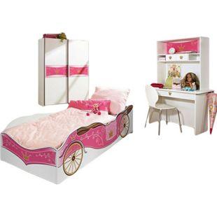 Kinderzimmer Zoe2 4-teilig Weiß - Pink - Bild 1