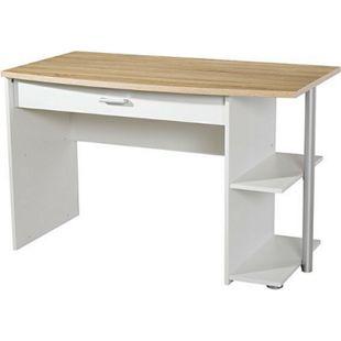 Schreibtisch Acun 120*64 cm weiß - grau - Bild 1
