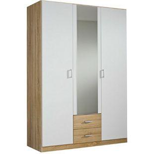 Kleiderschrank Acun grau 3 Türen B 136 cm - Bild 1