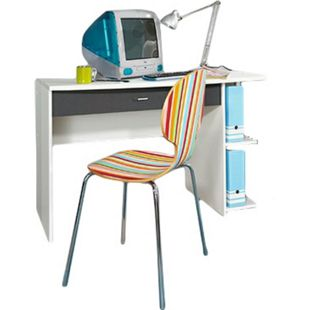 Schreibtisch Manuel 120 x 64 cm weiß - grau - Bild 1