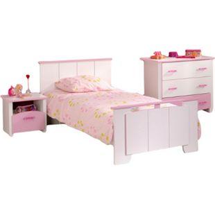 Kinderzimmer Biotiful Parisot 3-teilig Weiß - Rosa - Bild 1