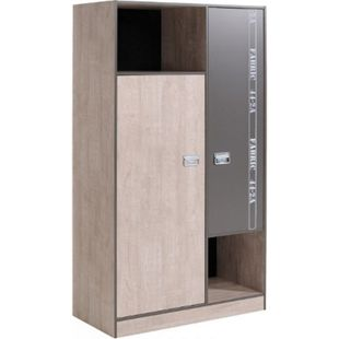 Kleiderschrank Fabric Parisot grau 2-trg B 101 cm - Bild 1