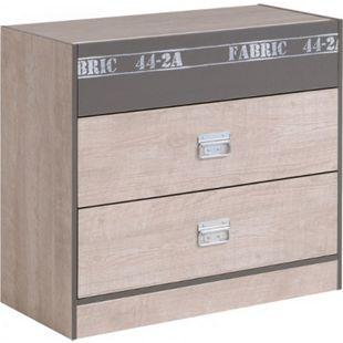 Kommode Fabric Parisot mit 3 Schubladen B 87 cm H 77 cm grau - Bild 1