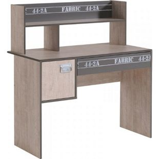 Schreibtisch Fabric 108 x 56 cm Parisot hell-dunkel grau - Bild 1