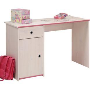 Schreibtisch Smoozy 121 x 50 cm Parisot weiß - pink - Bild 1