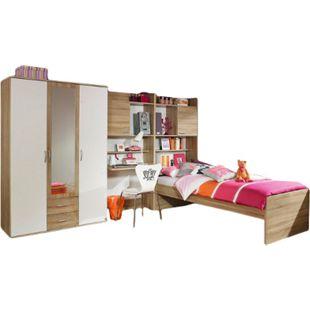 Kinderzimmer Naomi 2 4-teilig Weiß- Eiche Sonoma B 317 cm x 257 cm - Bild 1