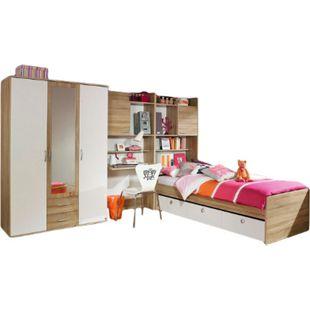 Kinderzimmer Naomi 3 4-teilig Weiß - Eiche Sonoma B 317 cm - Bild 1