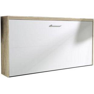 Klappbett Susi inkl. Lattenrahmen + Softclose Funktion 90x200 cm weiß - Eiche sanremo hell - Bild 1