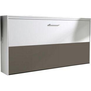 Klappbett Susi inkl. Lattenrahmen + Softclose Funktion 90x200 cm weiß - grau - Bild 1