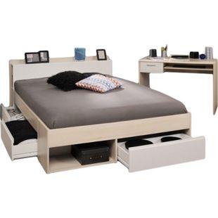 Jugendzimmer Most Parisot 2-tlg inkl. Funktionsbett + Schreibtisch beige / weiß - Bild 1