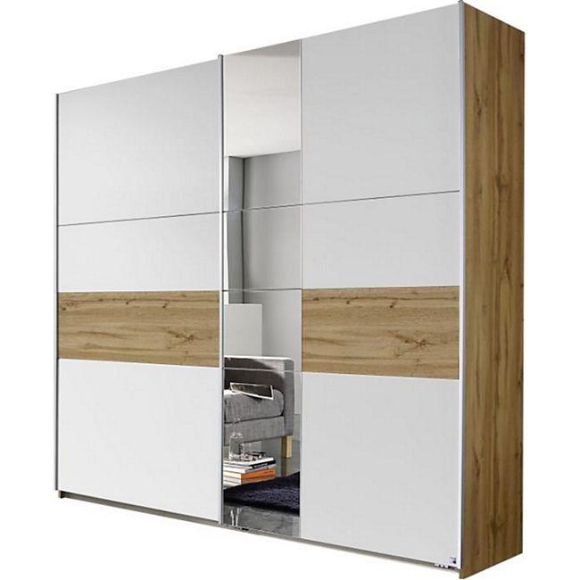 Schwebetürenschrank Pinar braun - weiß 2 Türen B 218 cm - Bild 1