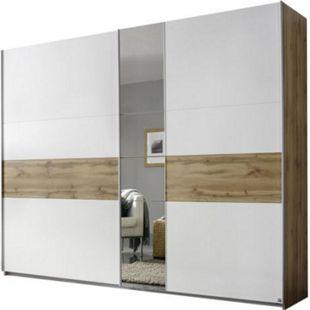 Schwebetürenschrank Pinar braun - weiß 2 Türen B 261 cm - Bild 1