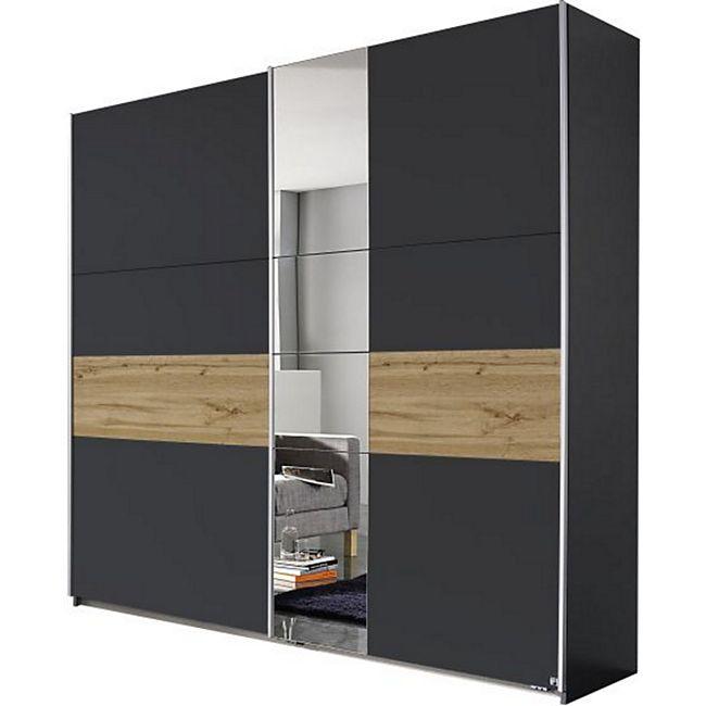 Schwebetürenschrank Pinar grau - braun 2 Türen B 218 cm - Bild 1