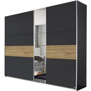 Schwebetürenschrank Pinar grau - braun 2 Türen B 261 cm - Bild 1