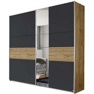 Schwebetürenschrank Pinar braun - grau 2 Türen B 218 cm - Bild 1