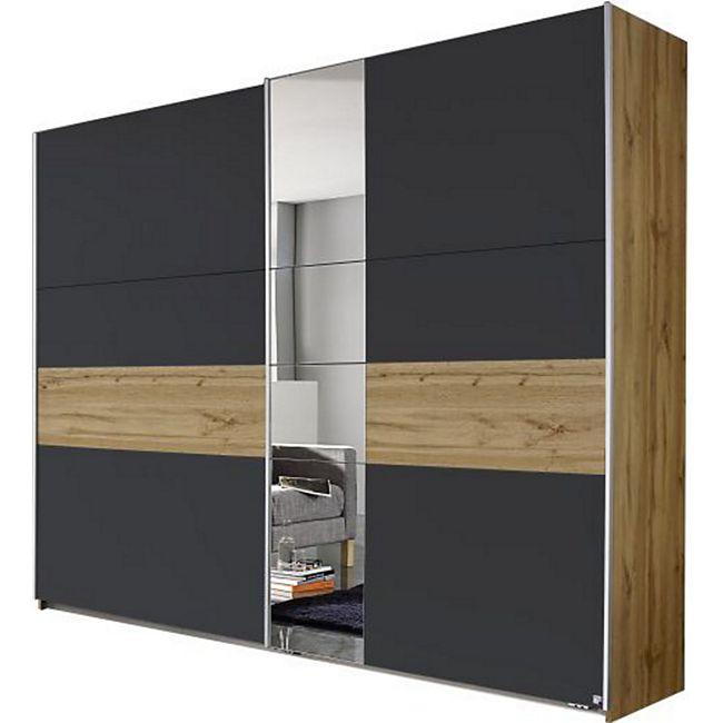 Schwebetürenschrank Pinar braun - grau 2 Türen B 261 cm - Bild 1
