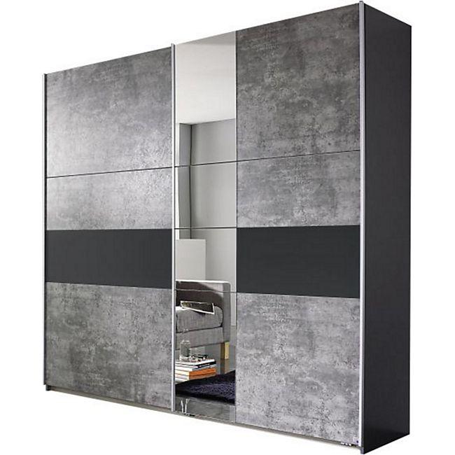 Schwebetürenschrank Pinar grau 2 Türen B 218 cm - Bild 1