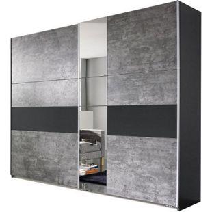 Schwebetürenschrank Pinar grau 2 Türen B 261 cm - Bild 1