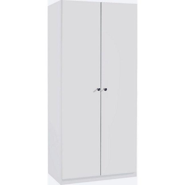 Kleiderschrank Caro 2-trg weiß B 91 cm - H 197 cm - T 54 cm - Bild 1