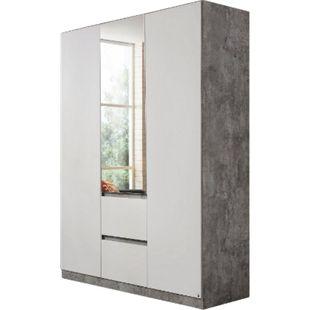 Kleiderschrank Amelie weiß - grau 3 Türen B 136 cm - Bild 1