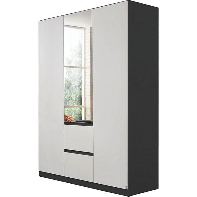Kleiderschrank Amelie weiß - grau-metallic 3 Türen B 136 cm - Bild 1