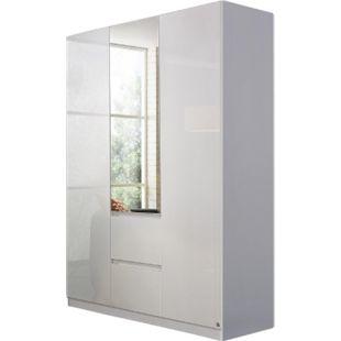 Drehtürenschrank Amelie Hochglanz weiß 3 Türen B 136 cm - Bild 1