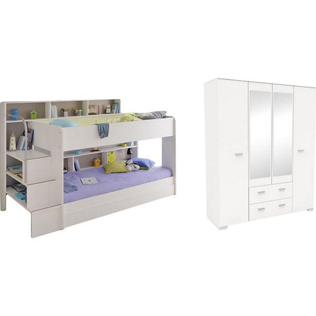 Kinderzimmer Bibop Parisot Bett + Kleiderschrank + Regale + Podest-Leiter + Schubkasten + Lattenrost - Bild 1