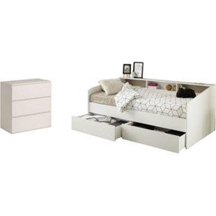 Kinderzimmer Sleep Parisot Weiß inkl. Bett, 2 Bettschubkästen, Kommode - Bild 1