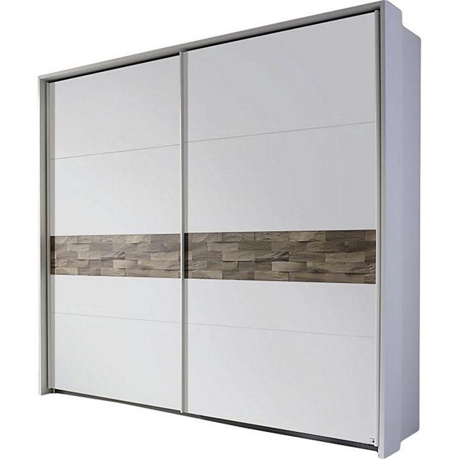Schwebetürenschrank Milia weiß - braun 2 Türen B 233 cm - Bild 1