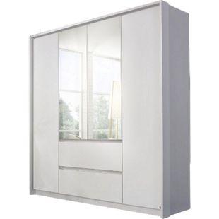 Kleiderschrank Ella weiß 4 Türen B 185 cm - Bild 1
