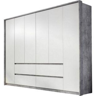 Kleiderschrank Ella weiß - grau 6 Türen B 275 cm - Bild 1