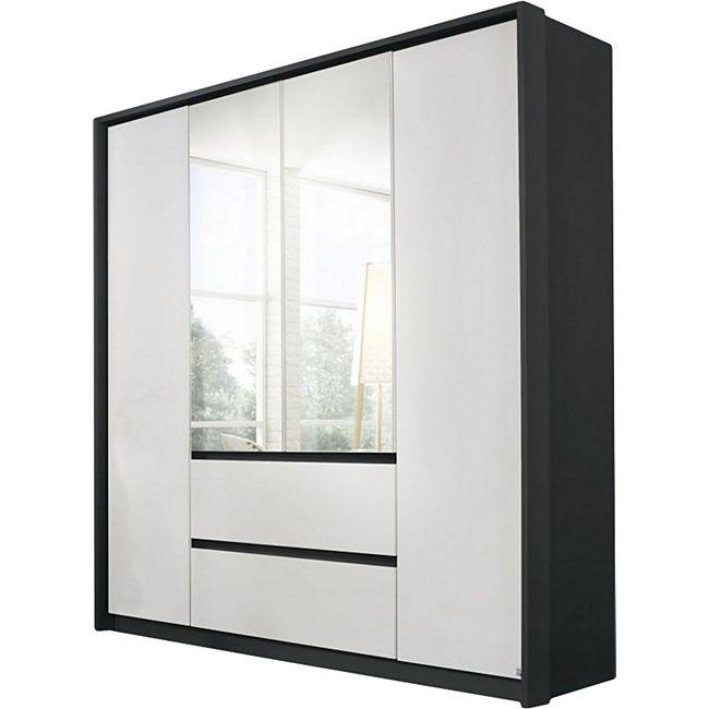 Kleiderschrank Ella 1 weiß - grau 4 Türen B 185 cm - Bild 1