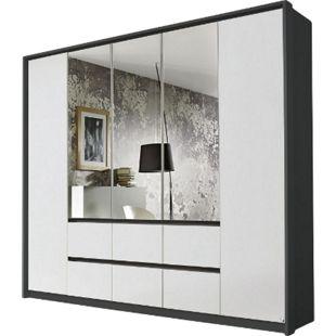 Kleiderschrank Ella 2 weiß - grau 5 Türen B 230 cm - Bild 1