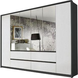 Kleiderschrank Ella 3 weiß - grau 6 Türen B 275 cm - Bild 1