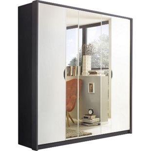 Drehtürenschrank Laura grau - weiß grau-metallic 5 Türen B 185 cm - Bild 1